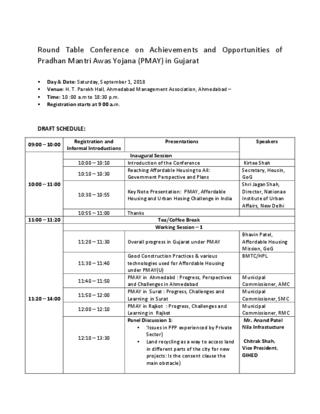 Programme: PMAY Gujarat Conference