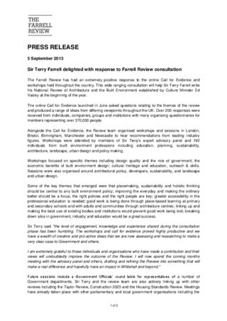 The Ferrel Review Press Release 5 September 2013