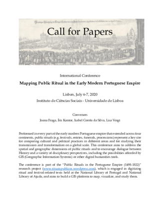 CfP - Mapping Public Ritual in the Early Modern Portuguese Empire
