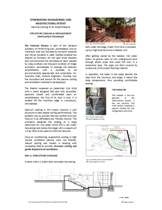 SYNERGISING ENGINEERING AND ARCHITECTURAL INTENT Natural cooling of an amphitheatre