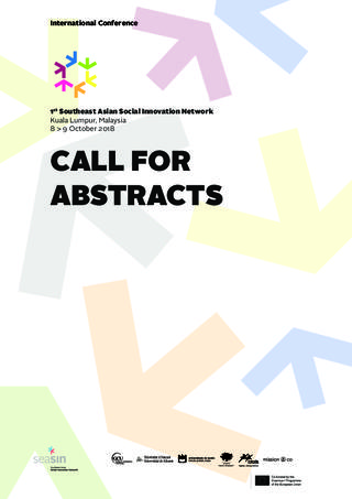 Call for Abstracts: 1st Southeast Asian Social Innovation Network