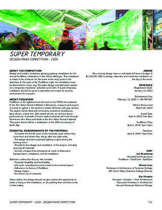 Competition Brief: Super Temporary Design/Make Competition