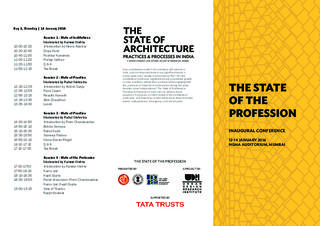 Conference Programme: The State of the Profession