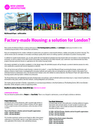 Submission Guidelines: Factory-made housing: a solution for London?