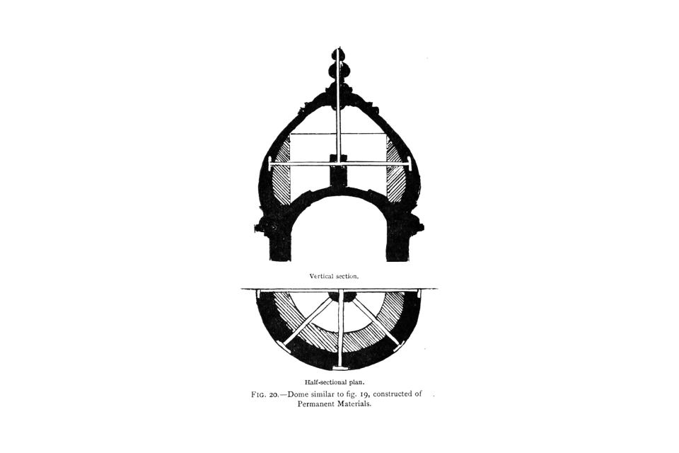 20. Dome similar to Fig. 19, constructed of Permanent Materials.