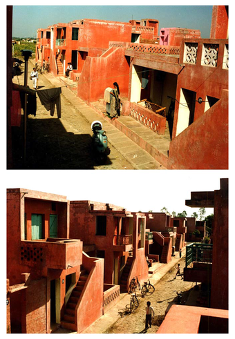 """The """"Streets"""", showing facade variations"""