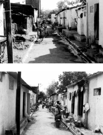 A key technique in the project was lowering the mud roads before paving them. The lowered streets and pathways serve as natural drainage channels during heavy rainstorms as well as  reduce the effects of dust and mud.