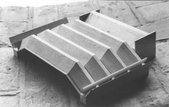 Study Model showing Folded-Plate roof structure