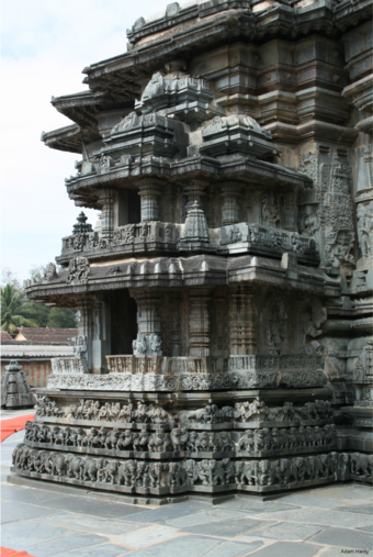 Fig. 08: . The Cennakeśava temple, Belur, 1117 CE, shrine on bhadra of the vimāna