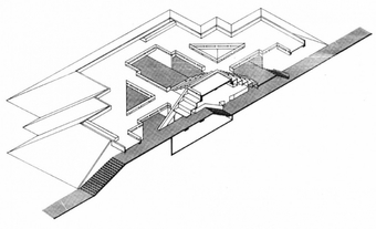 Nehru Pavilion, Cross section 2 (Isometric view)
