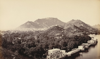 Ajmer, from above the ''Daulat Bagh''.