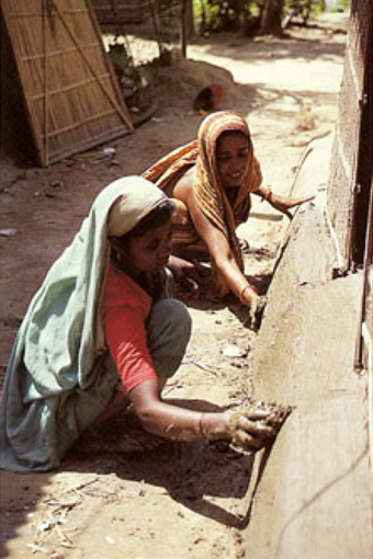 Women have played a key role in the success of the building programme, and have also been directly involved in house construction