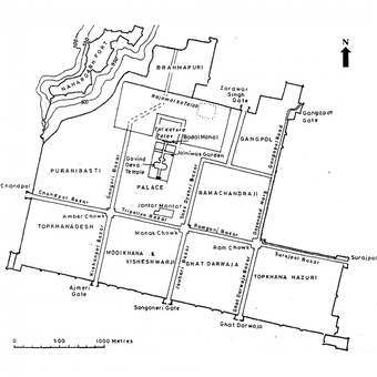Layout plan of the Walled City of Jaipur