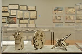 Installation view, 'Lebbeus Woods, Architect' at the Drawing Center
