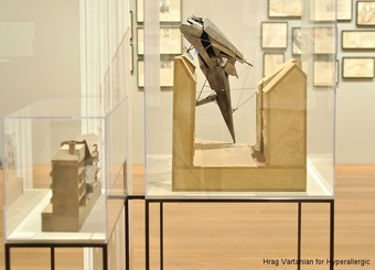 """A view of """"Zagreb Free Zone"""" (1991) maquette in the Drawing Center gallery"""