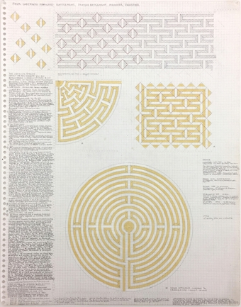 Ben Nicholson, Labyrinth Study #7, 1997–2010. Pencil on paper, 14 x 11 inches.