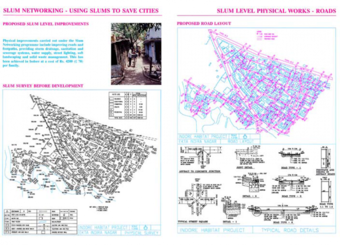 8. Slum survey before improvement, and proposed road layout