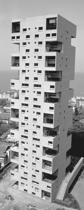 Buildings in Mumbai that face the sea also take the full brunt of extreme weather.