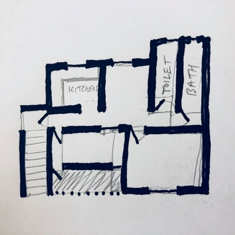 "A ""quick mental sketch plan"" of the house"