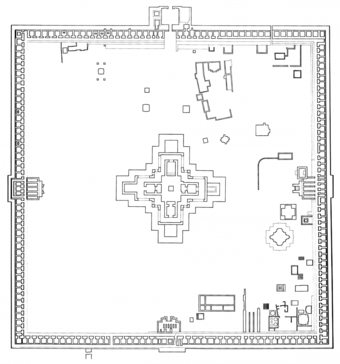 Plan of   Paharpur Monastry, Naogaon, 770-819 AD, 85 KM from the site. (The architect claims it as one of his 'design inspirations')
