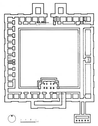 Plan of Sitakot Monastary, 7th-8th C. AD, 110 KM from the site. (The architect claims it as one of his 'design inspirations')