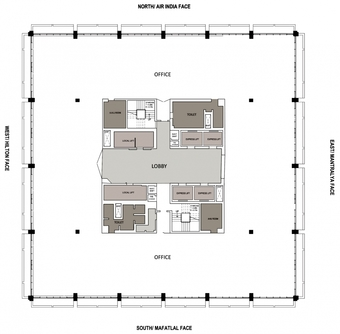Typical Floor Plan, Indian Express Towers
