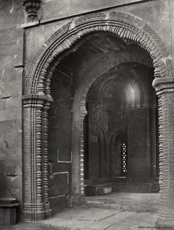 Ala-ud-Din's Gateway. Doorway on the northern side [Alai Darwaza, Qutb]