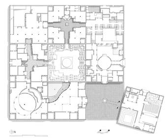 Plan, Jawahar Kala Kendra, Spathik gallery, site of the installation on bottom left