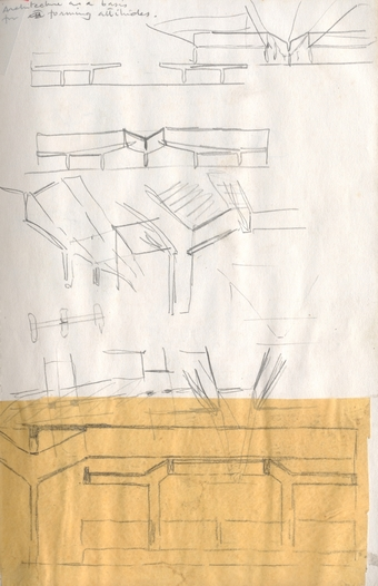 """""""Architecture as a basis for forming attitudes""""; Wholesale Market Roof; Sectional Studies"""