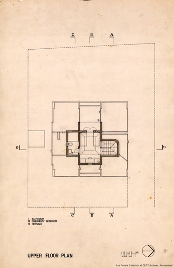 Upper Floor Plan, Leo Pereria, Architect's Own House