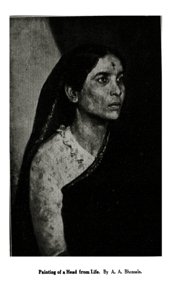 'Painting of a Head from Life' By A. A. Bhonsale.