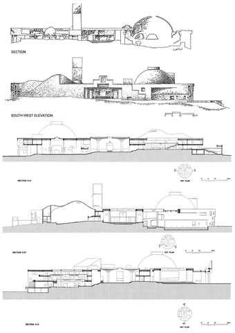 Elevations (top) and Sections