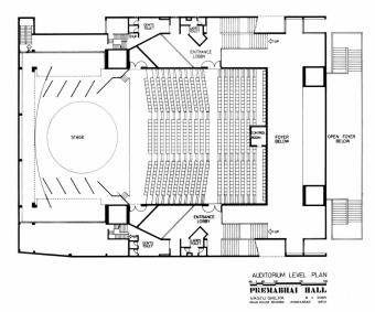 Auditorium Level Plan, undated