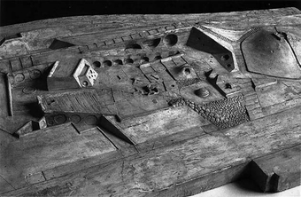Bronze model of Levy Memorial Park by Isamu Noguchi and Louis Kahn.