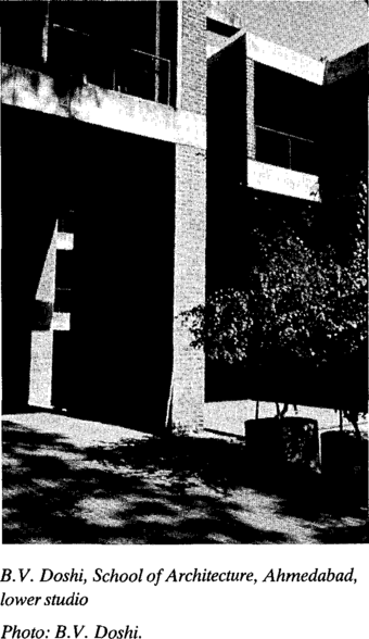 B.V. Doshi, School of Architecture, Ahmedabad, lower studio