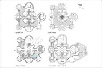 Plans of Parliament Library at New Delhi