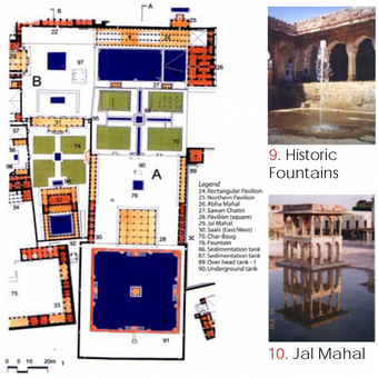 Plan Detail, Courts with fountains