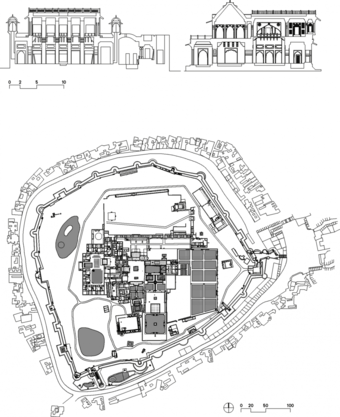 Nagaur Fort Plan and Detail Section
