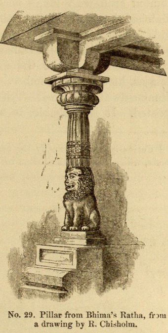 No. 29. Pillar from Bhima's Ratha, from a drawing by K. Chisholm.