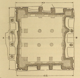 No. 31. Plan of Dharmaraja's Ratha, from a drawing by R. Chisholm. Scale 10 feet to 1 inch.