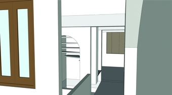 CAD Model, view from the skylit area