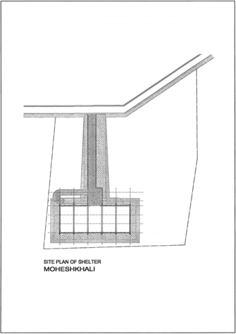 Site plan for shelter Moheshkhali