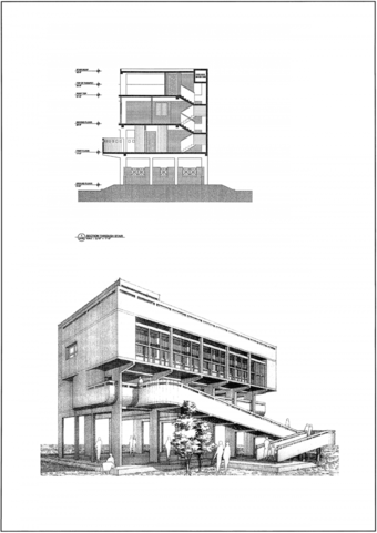 Section and perspective