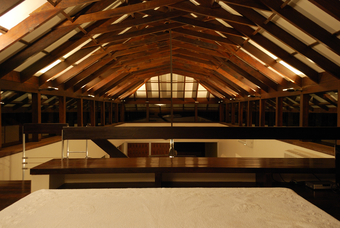 View of the Loft at night