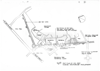 Fig 17: Part plan of Siri Fort showing unauthorised development