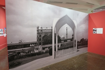 Mazār of Maulana Azad seen at the State of Architecture show, Bombay, Feb. 2016