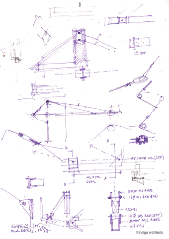 Study, canopy and catwalk details