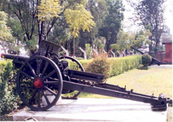 Fig 13. One of the World War II Guns still at display at the Fort
