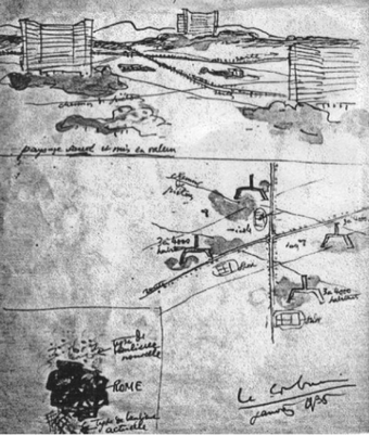Sketches for the Roman periphery, 1936