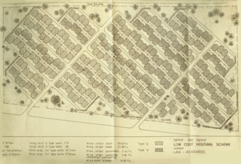 """""""Typical Site Layout"""" - Low Cost housing scheme"""